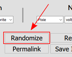 The Randomize button!